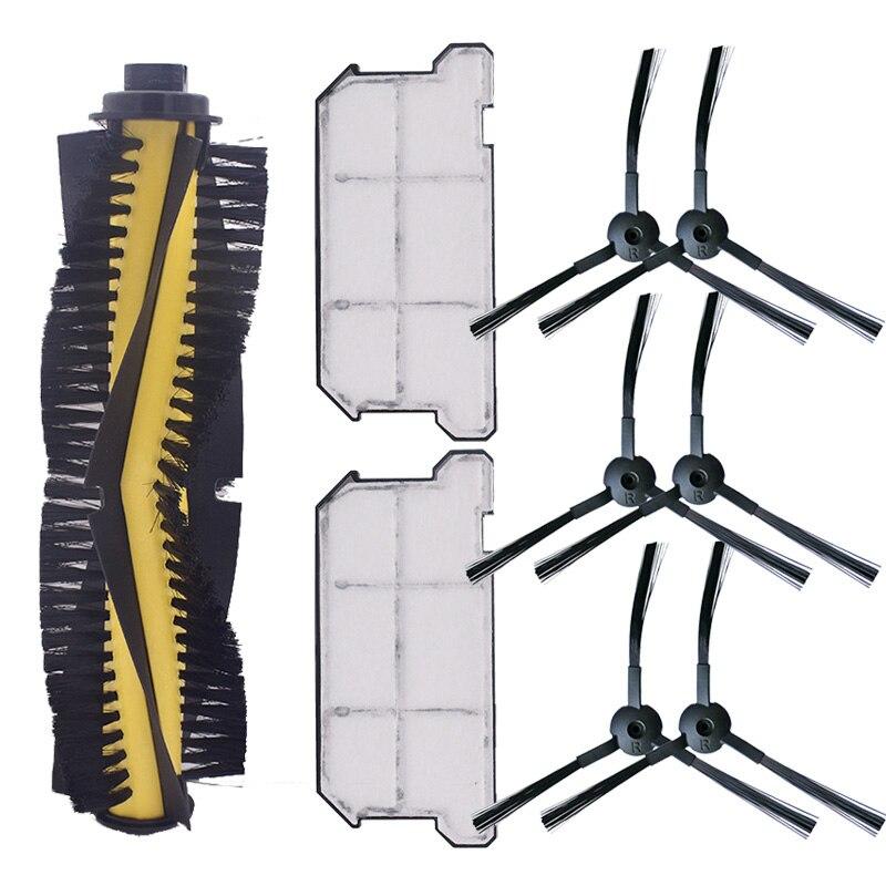 1 x brosse principale + 6 x brosse latérale + 2 x filtre Hepa anti-poussière pour Ilife V7 V7S V7S Pro Robot aspirateur pièces de rechange Replacem
