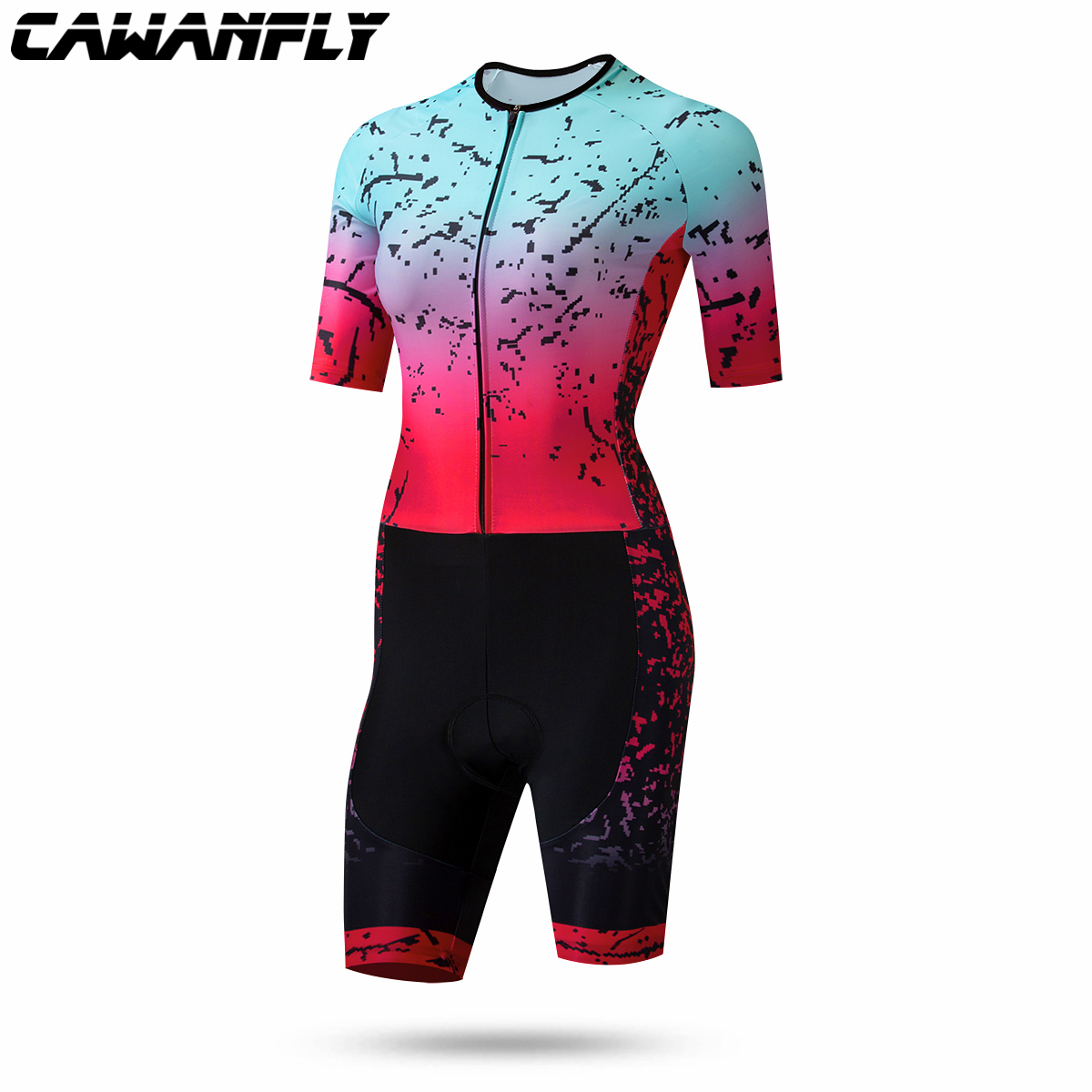 2020 Pro Team Triathlon Suit Women's Short Sleeve Cycling Jersey Skinsuit Jumpsuit Maillot Cycling Ropa Ciclismo Set Gel