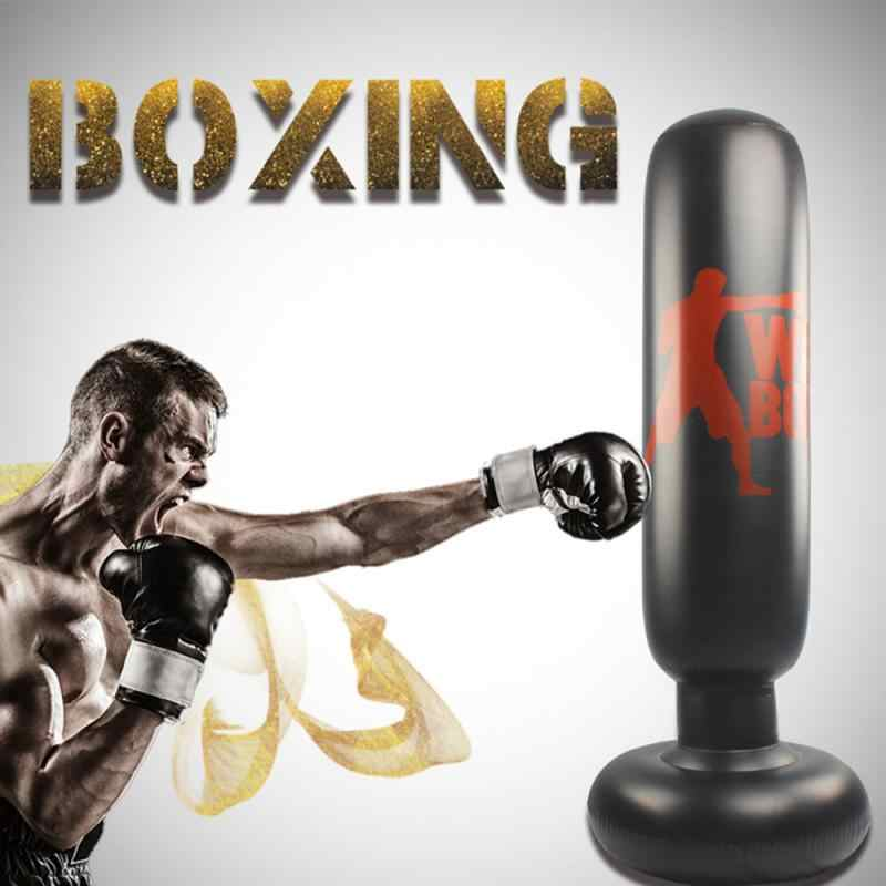 NEW INFLATABLE FREESTANDING PUNCHING TOWER BOXING FUN WORKOUT BAG WITH FOOT PUMP