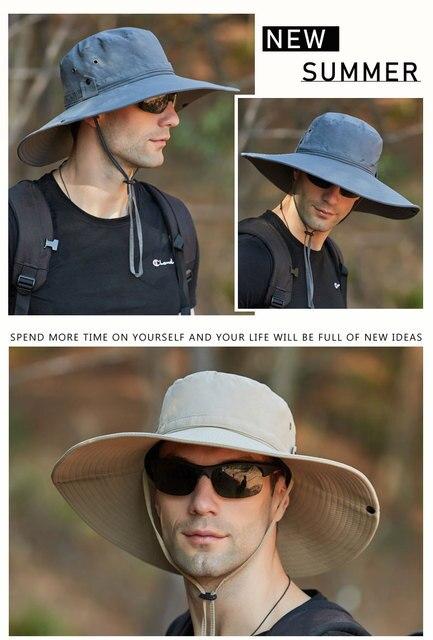 Уличная Водонепроницаемая Рыбацкая шляпа с большими полями Панама