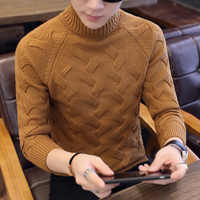 2019 Brand clothing Fasdhion Men Sweater Men Pullover Knitwear New Arrival Autumn Winter Fashion Turtleneck Sweater Men Clothes