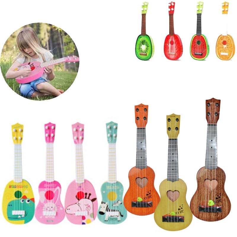 Забавные укулеле музыкальный инструмент дети гитара Монтессори игрушки для детей Школа Играть Игра образование Рождество подарок на день ...