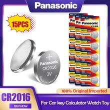 15 PÇS/LOTE Panasonic CR2016 3V CR Bateria de Lítio 2016 DL2016 LM2016 KCR2016 ECR2016 GPCR Para O Relógio de Brinquedo Chave Do Carro Botão de Célula tipo Moeda