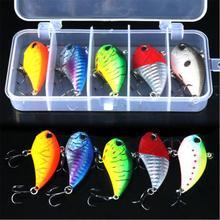 5PCS/Set 6cm/10g 3 Hooks Bionic False Bait Fishing Lure