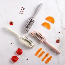 3 в 1 Многофункциональный кухонный вращающийся очиститель из нержавеющей стали овощерезка с ручкой фруктовый слайсер с ручкой кухонный инструмент для очистки
