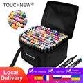 Маркеры TouchNew Набор для рисования эскизные ручки художественные маркеры кисть 20 30 40 60 80 168 цветов на спиртовой основе стандартная ручка