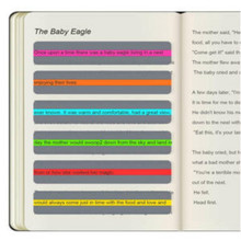 6pcs Reading Guide Highlighter Strips Colored Overlays Colorful Bookmarks Tracking Rulers Helps With Dyslexia For Kids Teacher