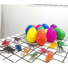 12 PCs Easter Eggs Mini Dinosaurs Home Decor Cartoon Colorful Festival Animal Party Children Toys Craft Kid Model Plastic Gift(China)