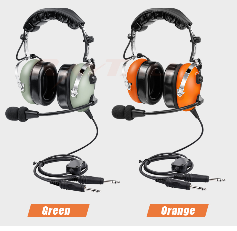 Aircraft Nosic Cancelling Headphone, Pilot Aviation Headset with GA Dual Plugs, Comfortable Ear Pad, Include Headset Bag