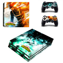 My Hero Academia Style Skin Sticker for PS4 Pro Console And Controllers Decal Vinyl Skins Cover YSP4P-3272