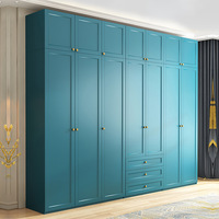 Wardrobe Nordic Wardrobe Bedroom Sliding Door Three Door Combination Cabinet Plate Assembly Wardrobe