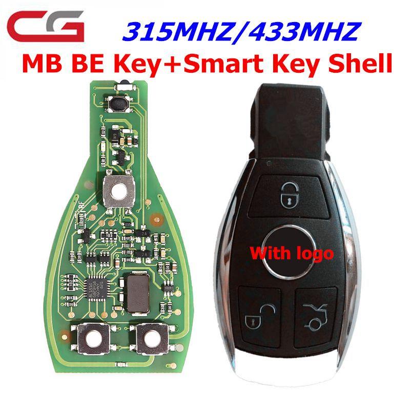 Cgdi chave remota inteligente para mercedes para benz suporta bga 315 mhz ou 433 mhz botões apoiar todos os fbs3 e recuperação automática