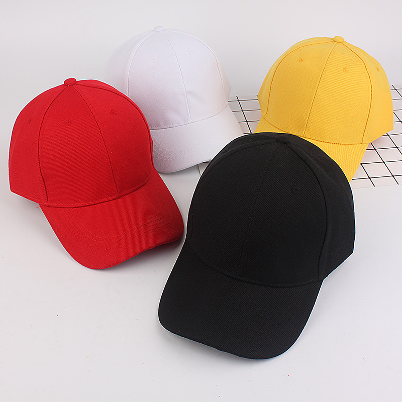 Korean Men And Women Couples Light Board Solid Color Baseball Cap Sports Collective Hat Custom Embroidered Cap Travel Hats