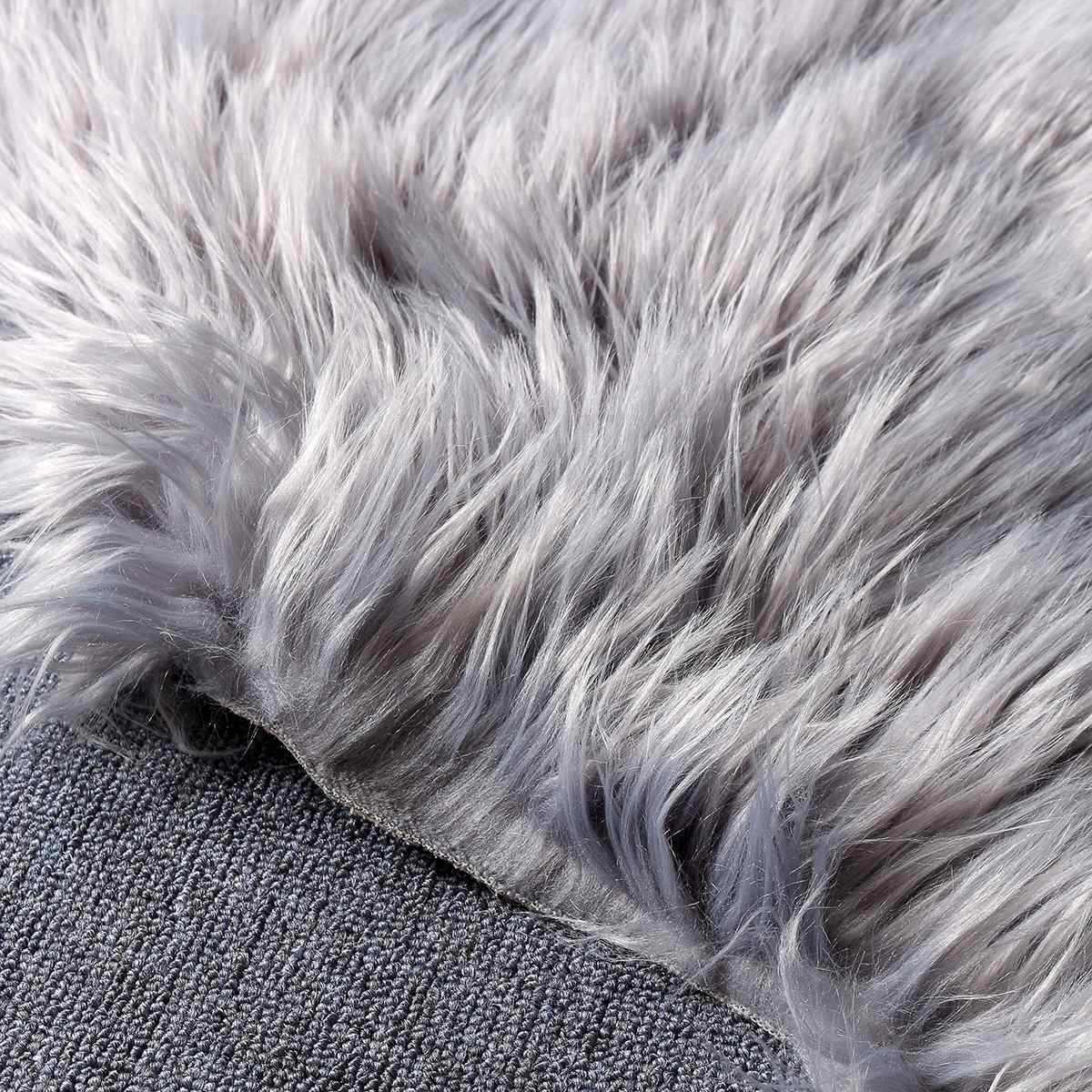 100cmX60cm 羊皮の敷物マットカーペットパッド椅子ソファ寝室の家の装飾寝室のどの毛皮の敷物
