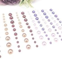 Stone-Stickers Scrapbook Embellishments-Art Craft Adhesive Pearls Rhinestone Flat-Bottom