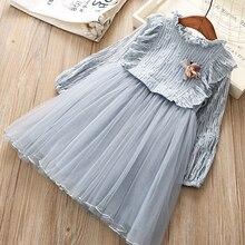 Новые детские платья для девочек; вечерние платья-пачки для маленьких девочек; платье для крещения; осенняя одежда с цветочным принтом для дня рождения; Vestido