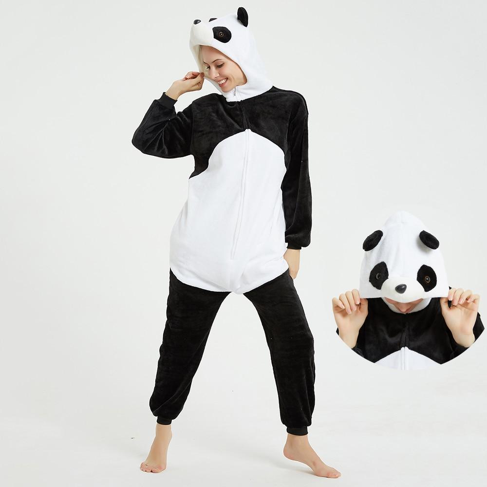 Kigurumis 3D Panda Printing Onesie Women Pajama AdultHomewear Funny Festival Sleepwear Cosplay Party Jumpsuit Unisex Costume