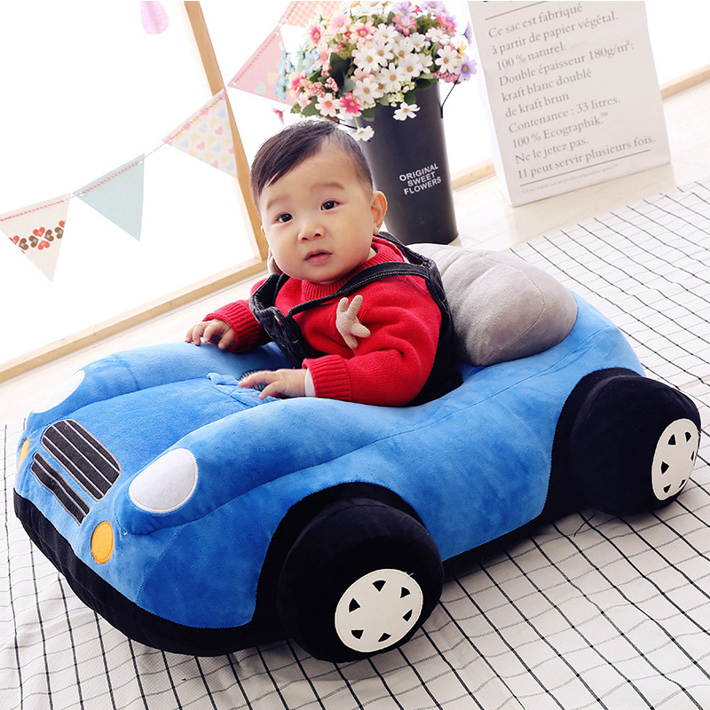 Baby Learning Chair Baby Learning To Sit Sofa Car Learning Seat Plush Toy Cartoon Car Fabric Safety Chair Kids Sofa