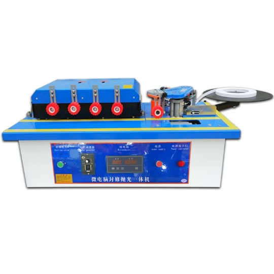 Woodworking Edge Banding Machine Trimming, Multi-function Microcomputer, Linear, Curved + Polished + Widened + Pneumatic Aligner