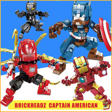 Marvel Avengers 3 Compatible Legoed Movie DC Super Heroes Captain America Ironman Spiderman Building Blocks Action Figure Toys(China)