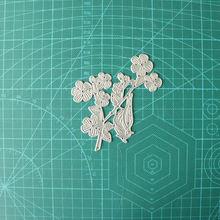 Металлические Вырубные штампы в виде веток птиц и листьев для