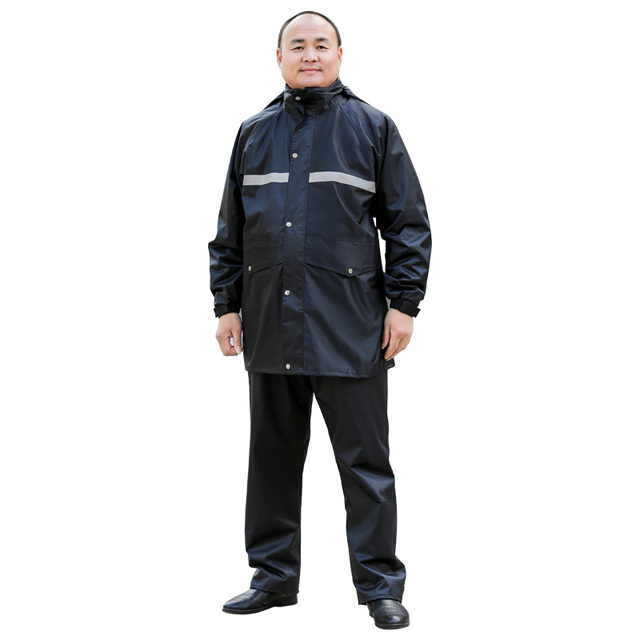 Increase Large Size Raincoat Rain Pants Suit Adult Fat People Rain Coat Motorcycle Raincoat Thicken Rain Jacket Casaco Masculino