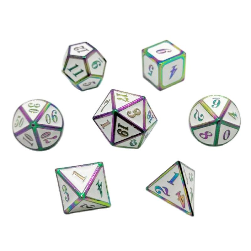 Solid Metal Polyhedral Dice Set for DND Dungeons and Dragons Pathfinder Call of Cthulhu ExtraHeavy Poly Dice