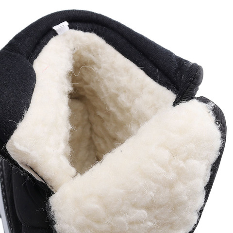 SNOW SHOES  Men Boots Winter with Fur 2019 Warm Snow Boots Men Winter Work Casual Shoes Sneakers High Top Rubber Ankle Boots Lahore