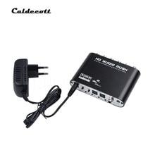 Caldecott-decodificador de Audio Digital 5,1, equipo de Audio DTS AC-3, 6 CANALES, convertidor de Audio Digital LPCM a 5,1 salida analógica 2,1 para DVD y PC