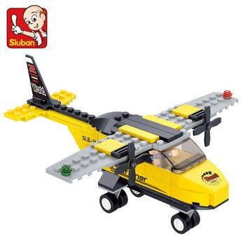 110Pcs City Plane Airport Building Blocks Sets Military T-Trainer Airplane Model Brinquedos Bricks Educational Toys for Children 110pcs magnetic building blocks model