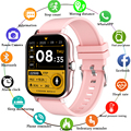 LIGE 1.69 inch 2021 Smart Watch Women Men Full Touch Bluetooth Call Fitness Tracker Waterproof Women Smartwatch for Android iOS