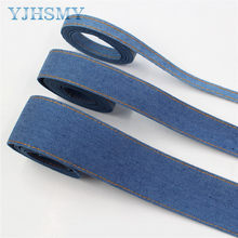 "5yards 3/8''1''1-1/2"" double-sided jumper denim fabric tape crafts bow cap accessories and decorations DIY materials L-20513-371(China)"