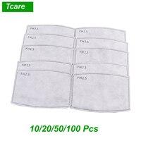 * Tcare 10 teile/los PM 2 5 Aktivkohle Filter Papier für Erwachsene Mund Gesicht Maske Gesundheit Pflege