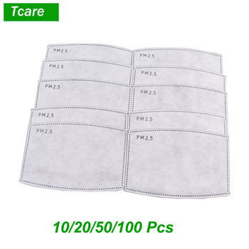 * Tcare 10pcs/Lot PM2.5 Activated Carbon Filter Paper for Adults Mouth Face Mask Health Care