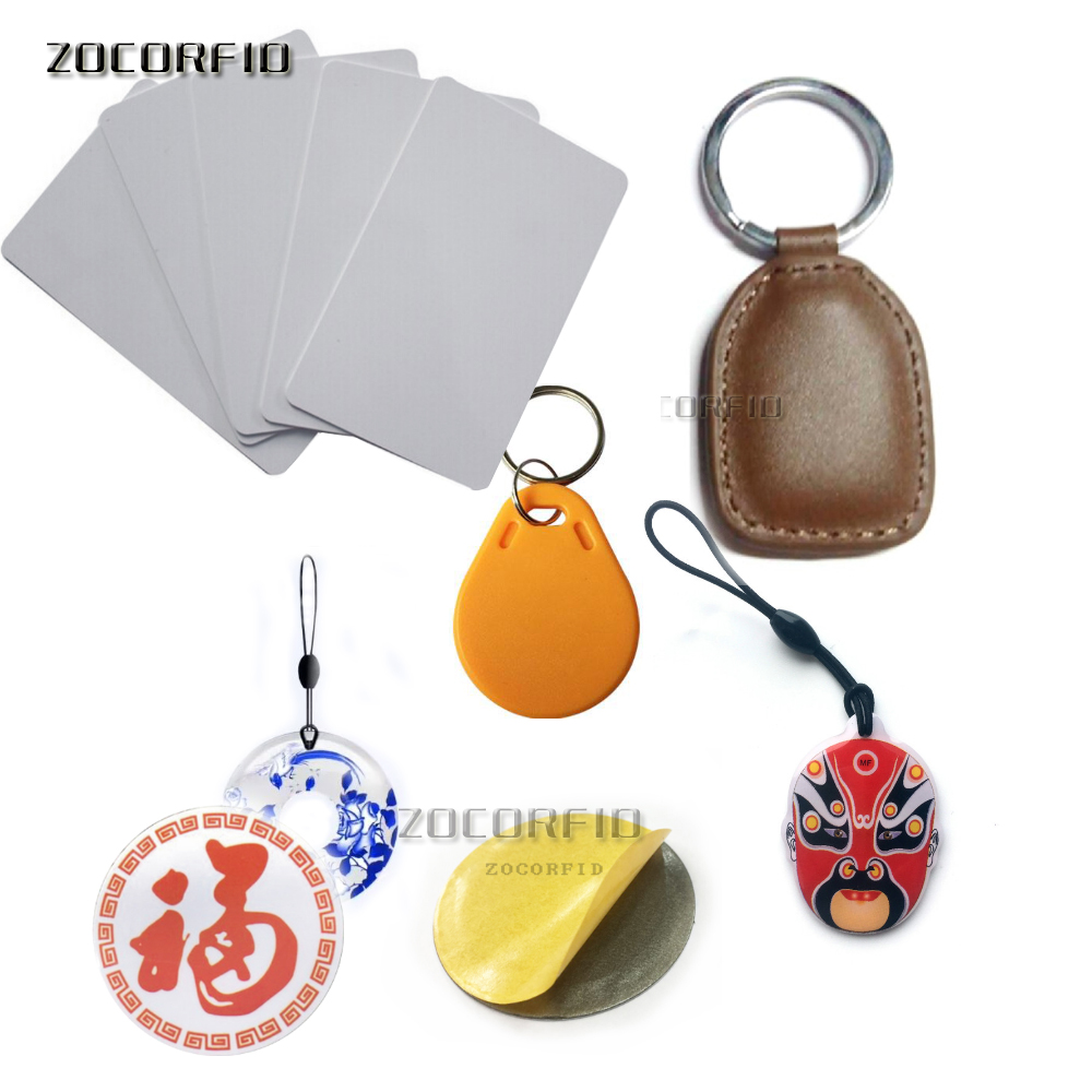 13.56MHz IC Card Clone Changeable Smart Keyfobs Key Tags Card 1K S50 MF1 RFID Access Control Block 0 Sector Writable
