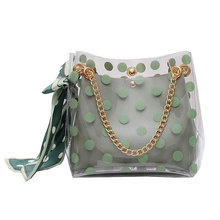 Shoulder Messenger Transparent Jelly Women Bag Chain Crossbody