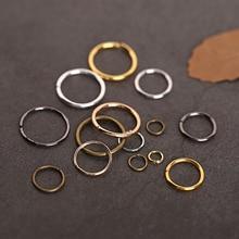 200pcs/lot Open Metal Jump Rings Silver Gold Bronze Color Split Rings Connectors Metal Loop For Diy Jewelry Finding Making