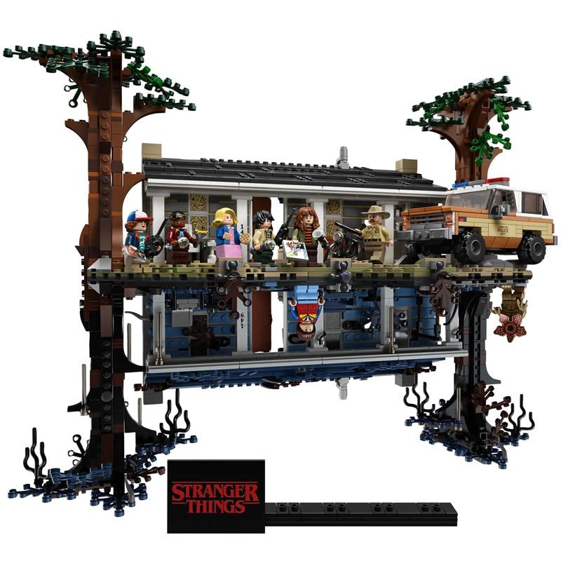 New 2499pcs City 75810 Stranger Things The Upside Down Building Blocks Bricks Set Children Toys Gift Christmas Gift