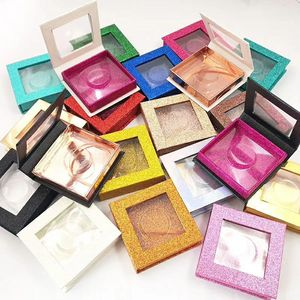 Image 1 - 20pcs wholesale false eyelashes packaging box fake 3d mink lashes boxes faux cils strip diamond magnetic case empty