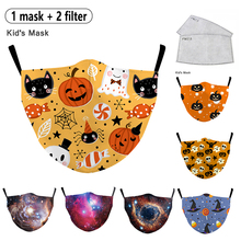 Cartoon Figures Printing Unisex Dust-proof Mouth Mask Kid Washable Reusable Mascarilla Mask Fashion Outdoor Windproof  Face Mask