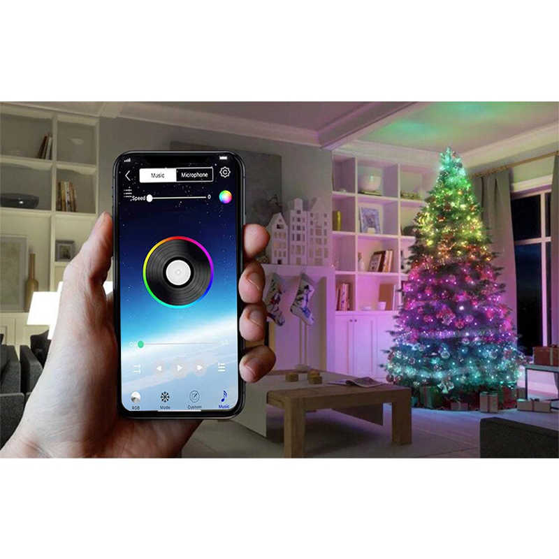 Christmas Tree Decoration Lights Custom LED String Lights App Remote Control US