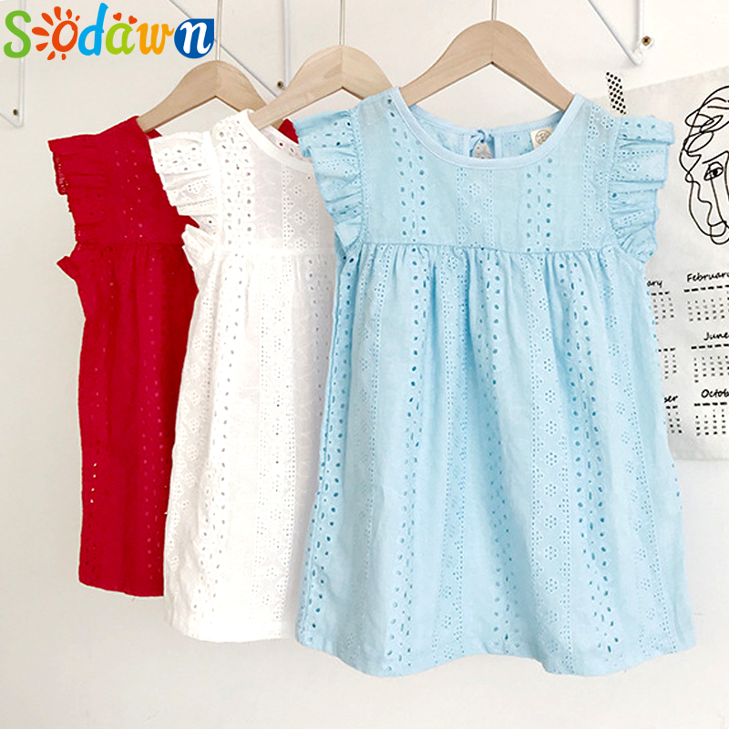 Sodawn Girl Dresses Sleeveless Lace Cute Princess Dress Kids Clothing Toddler Clothes Costume 2020 Children Dress Girl Clothes