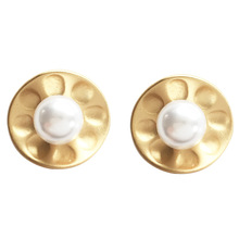 Fashion Pearl Stud Earrings Matte Golden Sweet Jewelry Vintage Statement Earrings For Girls Women Jewelry Gifts guang ce yzc 516c load cell s type tensile pressure sensor load cell 100kg 200kg 300kg 500kg 1t 1 5t 2t weighing sensor