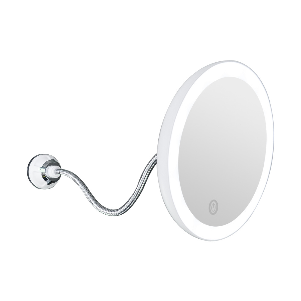 360 Rotation Mirror Lamp 10X Magnifying LED Fogless Suction Cup Shower Shave Make Up Fog Free Makeup Mirror Light