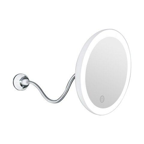 360 rotacao espelho lampada 10x ampliacao led copo de succao fogless chuveiro barbear maquiagem nevoeiro