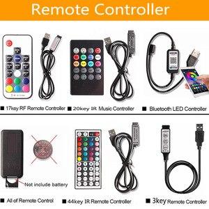 Image 2 - USB LED أضواء للمطبخ تحت خزائن RGB LED قطاع تيار مستمر 5 فولت SMD 5050 TV إضاءة خلفية خزانة خزانة مصباح مع البعيد