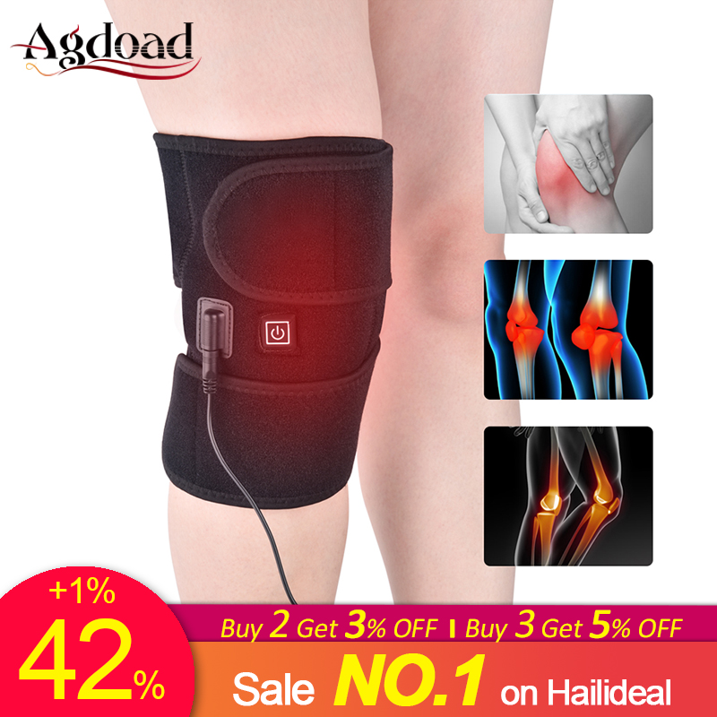 AGDOAD Arthritis Knee Support Brace Infrared Heating Therapy Kneepad For Relieve Knee Joint Pain Knee Rehabilitation Dropship