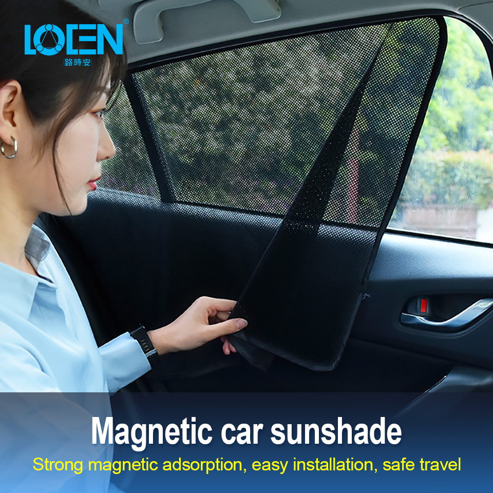 LOEN New Car Arcs Squares Side Window Sunshade Windshield Sunshade Cover Shield Curtain Auto Sun Shade Block Anti-UV For SUV Car