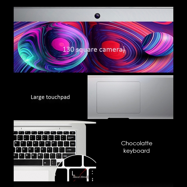 14-inch Notebook Computer 4G Memory Quad-core Super Z8350 Ultra-thin Gaming SSD Operating System Windows10 6