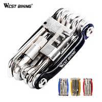 Herramientas multifunción para reparación de bicicletas de Bicicleta Kit de acero 10 en 1 Herramientas Bicicleta llave plegable Herramientas de Bicicleta Ferramentas